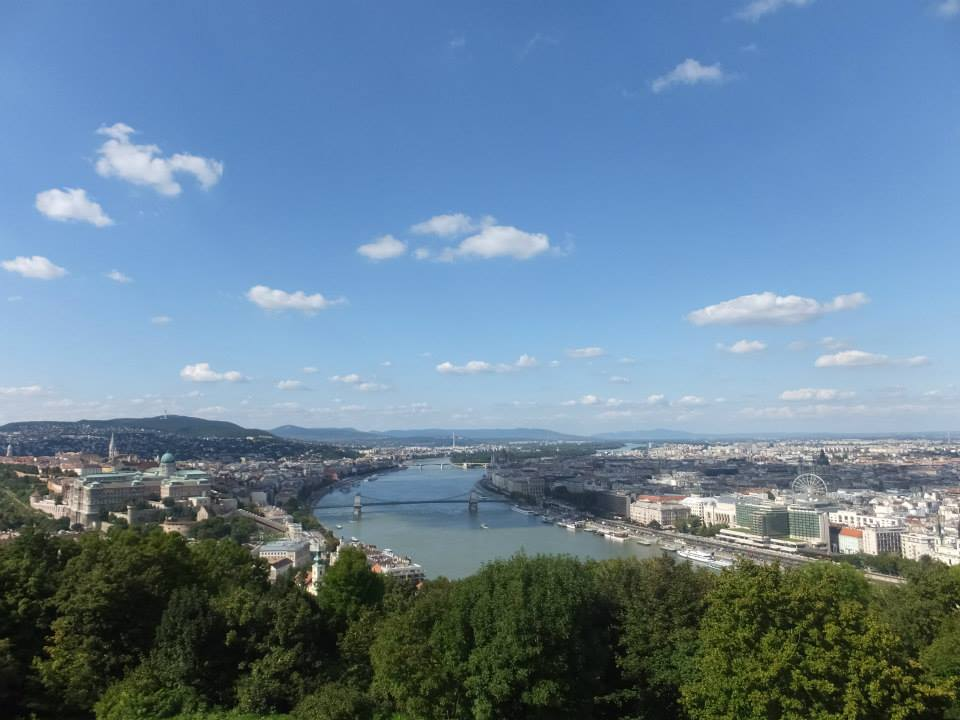 Author's photo of Budapest from the Gellért Hill Citadella