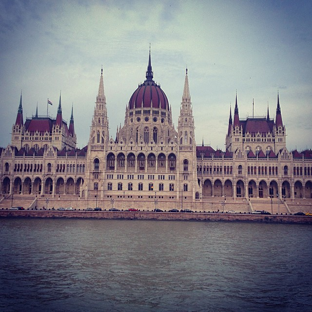 Author's photo of the Hungarian Parliament building from the Danube River